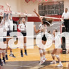 The Lady Eagles compete in the Sawyer Camillo Tournament at Argyle High School in Argyle, Texas on August 24, 2019. (Jaclyn Harris/ The Talon News)