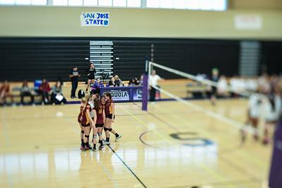 Menlo-Atherton High School Girl's JV Volleyball vs. Sequoia High School.  October 6, 2015