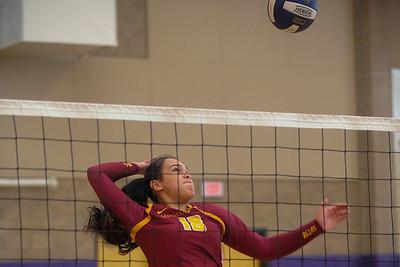 Menlo-Atherton High School Girl's Varsity Volleyball vs. Sequoia High School.  October 6, 2015