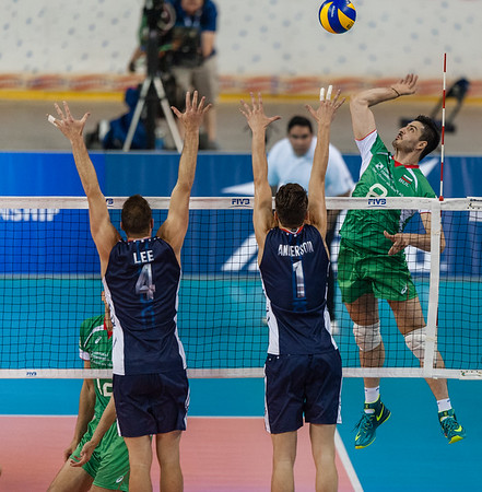 FIVB Men's Volleyball World League: Bulgaria vs USA 06.21.14