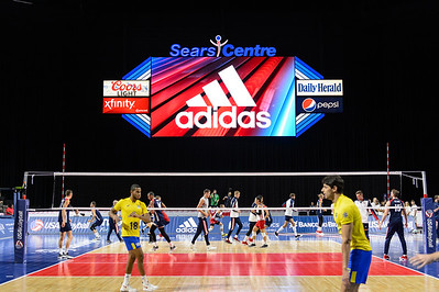USA Volleyball Cup, USA vs Brazil, August 18, 2017