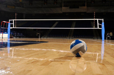 Volleyball Court, Net, and Ball