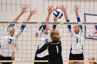 Volleyball: Dominion vs. South Lakes 8.30.17