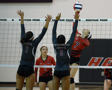 Volleyball: Rock Ridge vs. Heritage 9.23.14