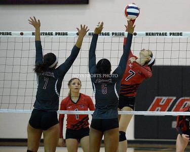 Volleyball: Rock Ridge vs. Heritage 9.23.14