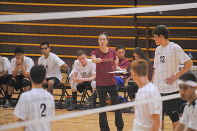 Menlo Atherton High School Boy's Varsity Volleyball vs. Wilcox High School.  March17, 2015