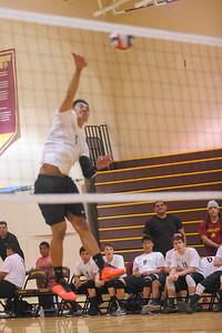 Menlo Atherton High School Boy's Varsity Volleyball vs. Wilcox High School.  March17, 2015