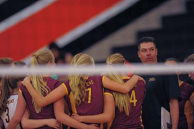 Menlo Atherton High School Girl's Varsity Volleyball vs. Woodside High.  October 14, 2014