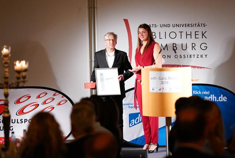 Michael Mahler, Disziplinchef Fechten, Johanna Becker, adh-Vorstandsmitglied