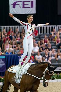 European Championships Vaulting 2019 Ermelo, TEAM GERMANY, VV Ingelsberg, Horse: Lazio, Lunger:  Alexander Hartl