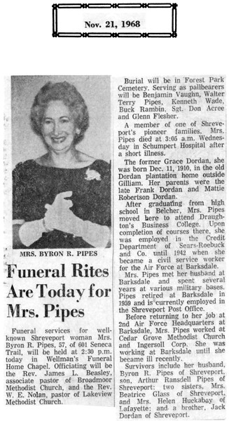 """[RP] Mom's passing was traumatic for the entire family, and certainly for me as a 16 year old kid. But through her bravery, as Gretchen describes (next image), I was saved from worse. I don't recall her ever complaining much about anything, even though it must have been terrible for her. She was a wonderful mother, and wanted most for me to grow up strong and virtuous. I will always miss her and cherish her memory - one reason why I am so thankful for Dad's dedication in capturing the images and notes in """"Byron & Tootsie""""."""