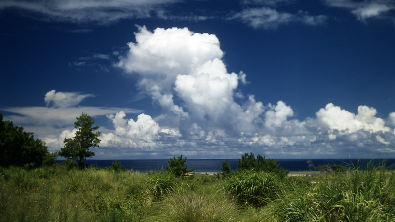 [BP] August '48. Cloud banks. It was so humid in Okinawa that the clouds were pretty.
