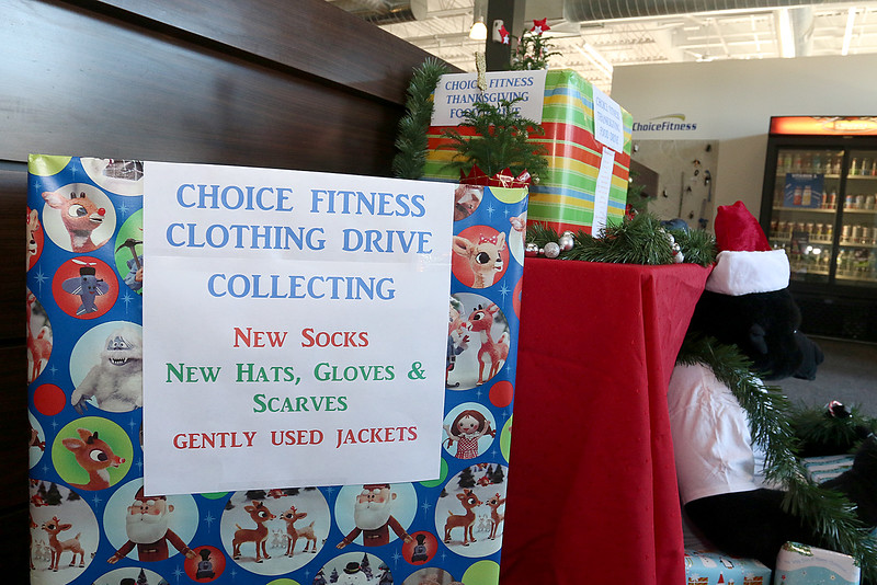 Choice Fitness General Manager Dave Mansfield is involved in a number of charitable organizations, raising money for everything from cystic fibrosis research to suicide prevention. Friday in his office he talked about what he does for the people and communities in the Merrimack Valley. He has three fundraisers in the lobby of Choice Fitness that he started on Wednesday. They are a food drive, clothing drive and sleeping bag drive. SUN/JOHN LOVE