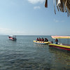 Going for a banana boat ride in Omoa.