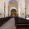 Inside Comayagua cathedral.