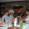 At the restaraunt for dinner, Tulio, Ronny, Alejandra, Edin and Osly, 2009