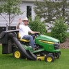 Roberto on the John Deer, Bismarck  2008