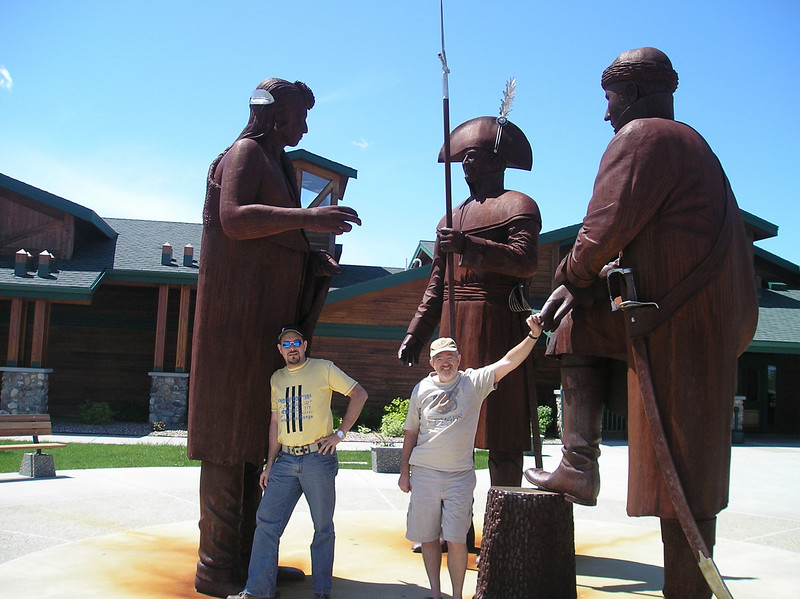 Roberto and Alan at the Lewis and Clark Interpretive Center in Washburn, ND, 2008