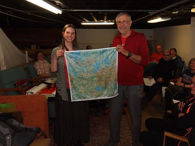 Winner of the True North bandanna map of the Powwow Trail.