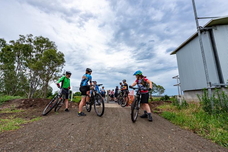 Lockyer Creek Bridge 'Soft Opening' bike ride on the Brisbane Valley Rail Trail.