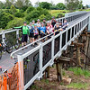 Lockyer Creek Bridge 'Soft Opening' bike ride on the Brisbane Valley Rail Trail.