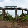 Lockyer Creek Bridge on the Brisbane Valley Rail Trail.