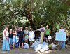 "The teams gather among their booty for the day.  Marah Hardt of  <a href=""http://www.350.org"">http://www.350.org</a> was on-hand to help and inform us of the efforts of that organization.  We clearly collected more than 350 bits of debris that were inevitably ocean-bound.  Photo by Cynthia Ho."