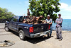 One of several trucks filled with debris collected from the Puako Boat Ramp to Wailea Bay.  Photo by Cynthia Ho.