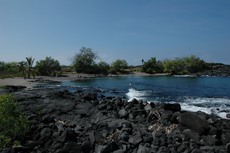 The site of the 'Alula Beach cleanup effort.