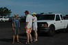 Chris tells curious onlookers about our mission:  The Ocean Conservancy International Coastal Cleanup.