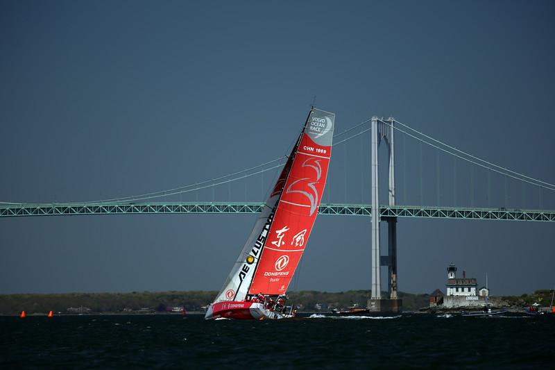 Dong Feng Race Team, 2015 Volvo Ocean Race, Newport Harbor, Narragansett Bay, Rhode Island