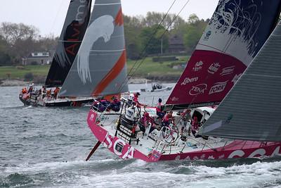 Dong Feng Race Team, Team SCA, 2015 Volvo Ocean Race, Newport Harbor, Narragansett Bay, Rhode Island