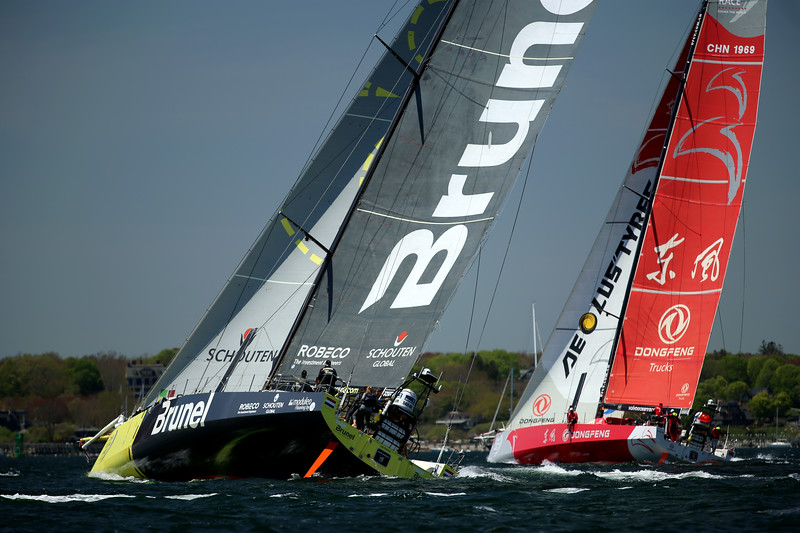 Team Brunel, Dong Feng Race Team, 2015 Volvo Ocean Race, Newport Harbor, Narragansett Bay, Rhode Island