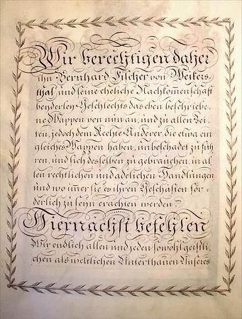 Nobility Title - Fischer von Weikersthal