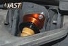 AST4100 rear shock installed on C5 Corvette - upper mount (no way to access rebound adjuster knob)