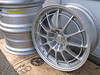 Picture of the same style wheel (Enkei NT03) going on the Mustang for initial STU testing. 18x10.5 ET30 (they stick out front and rear)