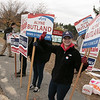 Tuesday the candidates were out holding signs at the polls in Fitchburg, Nov. 5, 2019. Candidate for Ward 3 councilor Alyne Butland at the polls in front of Memorial Middle School. SENTINEL & ENTERPRISE/JOHN LOVE