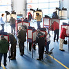 HOLLY PELCZYNSKI - BENNINGTON BANNER Polls at the Bennington Firehouse is packed to capacity to the point where waiting lines formed on Primary day in Bennington on Tuesday morning.
