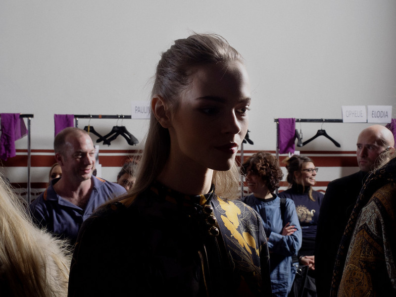 ITALY. Milan, February 2014. Fashion week. Etro backstage.