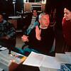 KAZAKHSTAN. British director Oliver Horsbrugh in the mixing room. 1995.