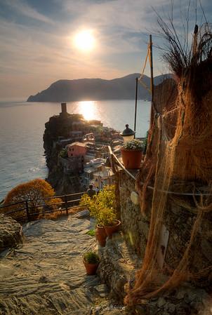 Tramonto su Vernazza-cinque terre-Liguria