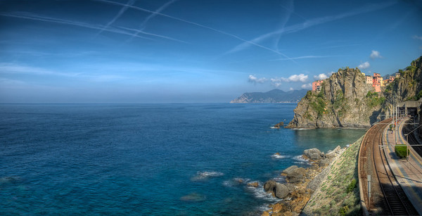 Panoramica Manarola-cinque terre-Liguria