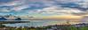 Coucher de solei sur la baie de Rivière Noire