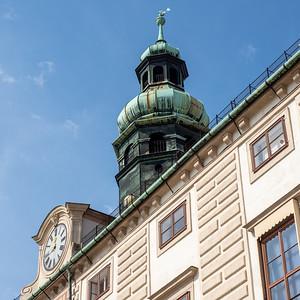 Le clocheton et l'horloge de l'Amalienburg.