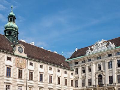 La façade de l'Amalienburg (16e - 18e siècles).