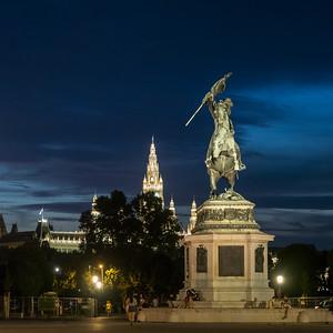 Statue équestre de l'archiduc Charles d'Autriche