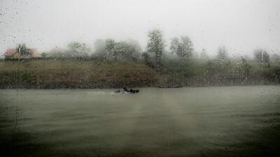 Orage sur le Danube en Slovaquie