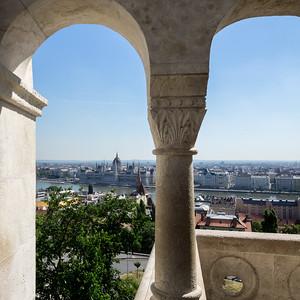 Le Danube et Pest vus depuis la colline de Buda