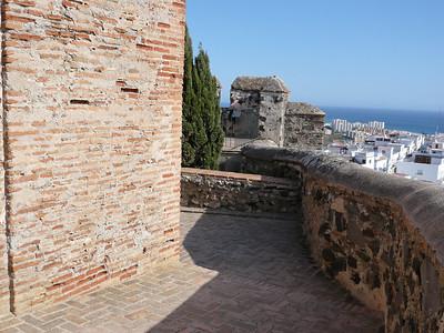 Les remparts de la citadelle de Salobreña