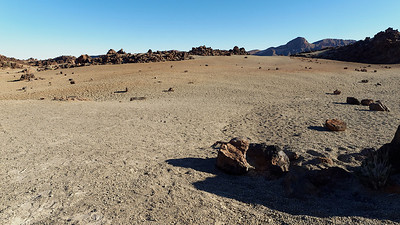 La caldeira formée par l'effondrement du volcan Cañadas